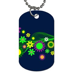 Flower Power Flowers Ornament Dog Tag (one Side) by Sapixe