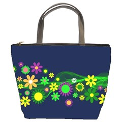 Flower Power Flowers Ornament Bucket Bags by Sapixe