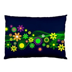 Flower Power Flowers Ornament Pillow Case by Sapixe