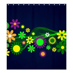 Flower Power Flowers Ornament Shower Curtain 66  X 72  (large)  by Sapixe