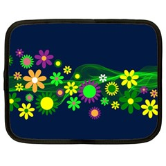 Flower Power Flowers Ornament Netbook Case (xl)  by Sapixe