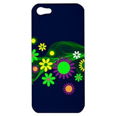 Flower Power Flowers Ornament Apple Iphone 5 Hardshell Case by Sapixe