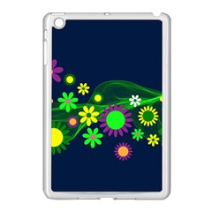 Flower Power Flowers Ornament Apple Ipad Mini Case (white) by Sapixe