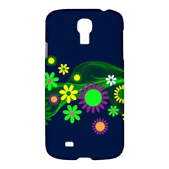 Flower Power Flowers Ornament Samsung Galaxy S4 I9500/i9505 Hardshell Case by Sapixe