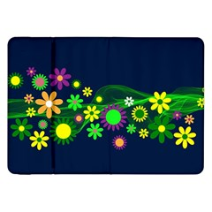 Flower Power Flowers Ornament Samsung Galaxy Tab 8 9  P7300 Flip Case
