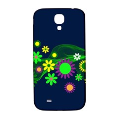 Flower Power Flowers Ornament Samsung Galaxy S4 I9500/i9505  Hardshell Back Case by Sapixe