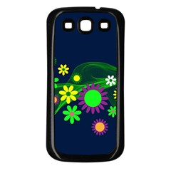 Flower Power Flowers Ornament Samsung Galaxy S3 Back Case (black) by Sapixe