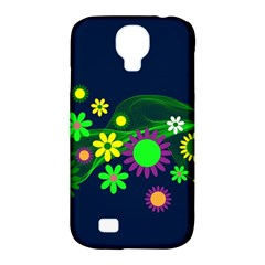 Flower Power Flowers Ornament Samsung Galaxy S4 Classic Hardshell Case (pc+silicone) by Sapixe