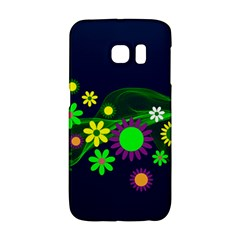 Flower Power Flowers Ornament Samsung Galaxy S6 Edge Hardshell Case by Sapixe