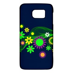 Flower Power Flowers Ornament Samsung Galaxy S6 Hardshell Case  by Sapixe