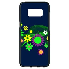 Flower Power Flowers Ornament Samsung Galaxy S8 Black Seamless Case