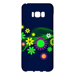 Flower Power Flowers Ornament Samsung Galaxy S8 Plus Hardshell Case  by Sapixe