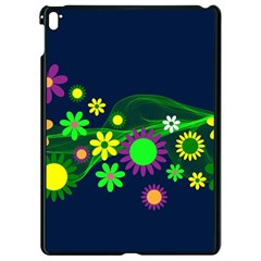 Flower Power Flowers Ornament Apple Ipad Pro 9 7   Black Seamless Case by Sapixe