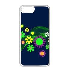 Flower Power Flowers Ornament Apple Iphone 8 Plus Seamless Case (white)