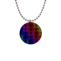 Rainbow Grid Form Abstract Button Necklaces