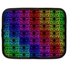 Rainbow Grid Form Abstract Netbook Case (xl)  by Sapixe