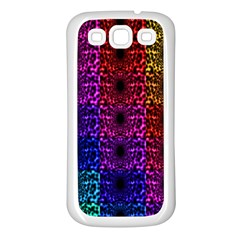 Rainbow Grid Form Abstract Samsung Galaxy S3 Back Case (white)