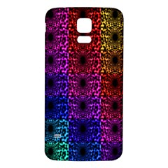 Rainbow Grid Form Abstract Samsung Galaxy S5 Back Case (white) by Sapixe