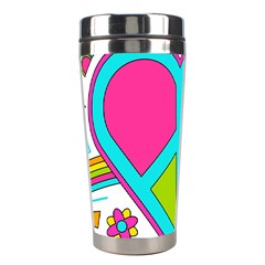 Love Peace Feelings Nature Stainless Steel Travel Tumblers by Sapixe