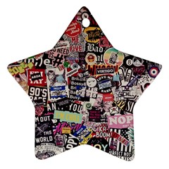Sticker Wall Color Paper Decoration Ornament (star)