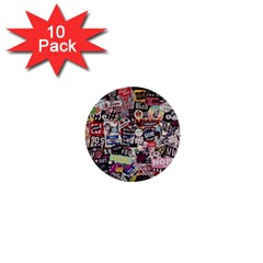 Sticker Wall Color Paper Decoration 1  Mini Buttons (10 Pack)