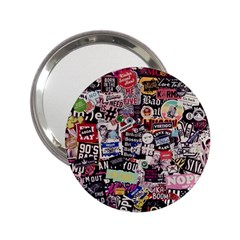 Sticker Wall Color Paper Decoration 2 25  Handbag Mirrors by Sapixe