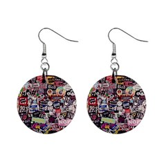 Sticker Wall Color Paper Decoration Mini Button Earrings by Sapixe