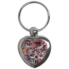 Sticker Wall Color Paper Decoration Key Chains (heart)