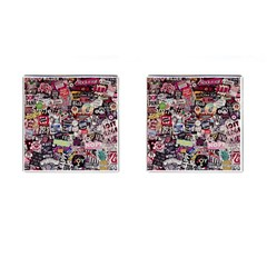 Sticker Wall Color Paper Decoration Cufflinks (square) by Sapixe