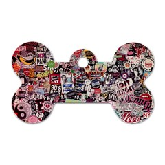 Sticker Wall Color Paper Decoration Dog Tag Bone (one Side)