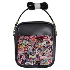 Sticker Wall Color Paper Decoration Girls Sling Bags by Sapixe