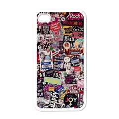 Sticker Wall Color Paper Decoration Apple Iphone 4 Case (white)