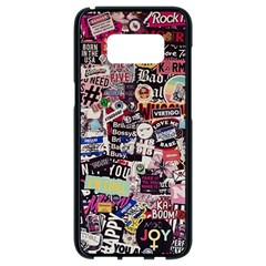Sticker Wall Color Paper Decoration Samsung Galaxy S8 Black Seamless Case