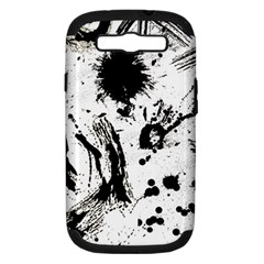 Pattern Color Painting Dab Black Samsung Galaxy S Iii Hardshell Case (pc+silicone)