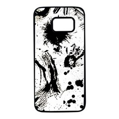 Pattern Color Painting Dab Black Samsung Galaxy S7 Black Seamless Case by Sapixe