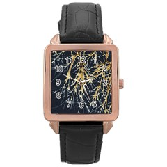 Nature Model No One Wallpaper Rose Gold Leather Watch