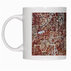 Metal Article Figure Old Red Wall White Mugs