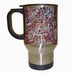Metal Article Figure Old Red Wall Travel Mugs (white) by Sapixe