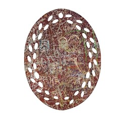 Metal Article Figure Old Red Wall Ornament (oval Filigree)