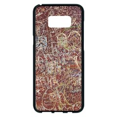 Metal Article Figure Old Red Wall Samsung Galaxy S8 Plus Black Seamless Case