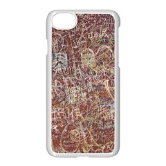 Metal Article Figure Old Red Wall Apple Iphone 8 Seamless Case (white)