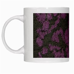 Purple Black Red Fabric Textile White Mugs