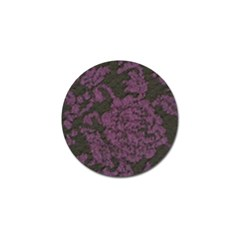Purple Black Red Fabric Textile Golf Ball Marker (10 Pack)