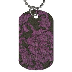 Purple Black Red Fabric Textile Dog Tag (two Sides) by Sapixe