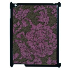 Purple Black Red Fabric Textile Apple Ipad 2 Case (black) by Sapixe