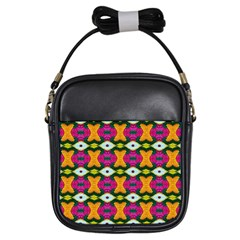 Artwork By Patrick Colorful 2 3 Girls Sling Bags by ArtworkByPatrick