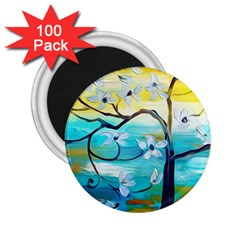 Oil Painting Tree Flower 2 25  Magnets (100 Pack)