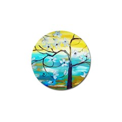 Oil Painting Tree Flower Golf Ball Marker by Sapixe