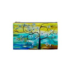 Oil Painting Tree Flower Cosmetic Bag (small)