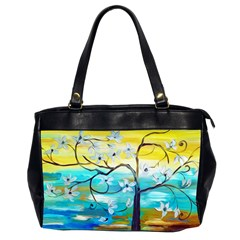 Oil Painting Tree Flower Office Handbags (2 Sides)  by Sapixe